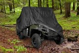 HEAVY DUTY WATERPROOF SUPERIOR UTV SIDE BY SIDE COVER COVERS FITS UP TO 120'L WITH ROLL CAGE BLACK COLOR ATV COVER RHINO, RANGER, MULE, GATOR, PROWLER, RAZOR, YAMAHA, ARCTIC CAT, PROWLER, RANCHER, FOREMAN, FOURTRAX, RECON 4x4